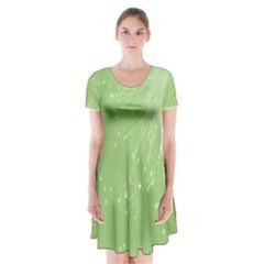 Big Bang Short Sleeve V Neck Flare Dress