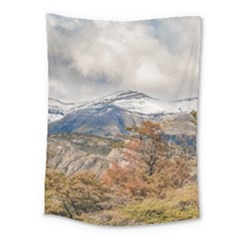 Forest And Snowy Mountains, Patagonia, Argentina Medium Tapestry