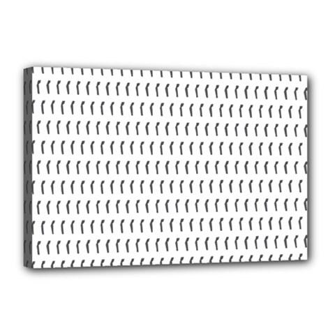 Renelle Box Waves Chevron Wave Line Canvas 18  X 12