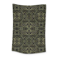 Golden Geo Tribal Pattern Small Tapestry