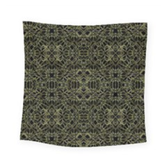 Golden Geo Tribal Pattern Square Tapestry (small)
