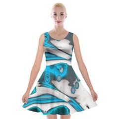 Lights Velvet Skater Dress