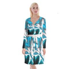 Lights Long Sleeve Velvet Front Wrap Dress