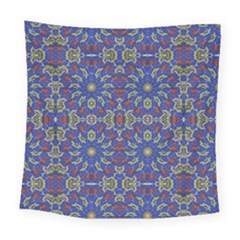 Colorful Ethnic Design Square Tapestry (large)