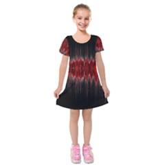Light Kids  Short Sleeve Velvet Dress