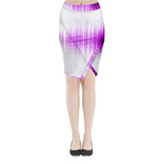 Light Midi Wrap Pencil Skirt