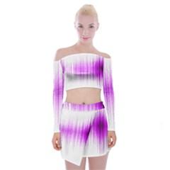 Light Off Shoulder Top With Skirt Set