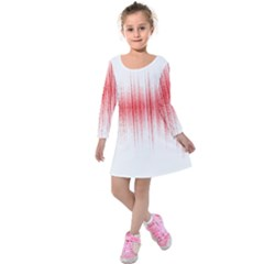 Light Kids  Long Sleeve Velvet Dress