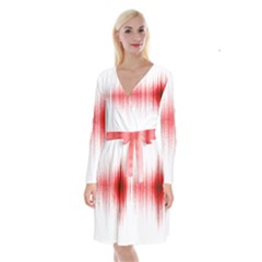 Light Long Sleeve Velvet Front Wrap Dress
