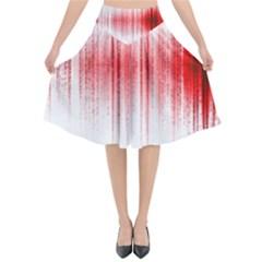 Light Flared Midi Skirt