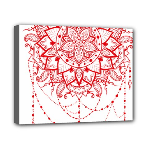 Mandala Pretty Design Pattern Canvas 10  X 8