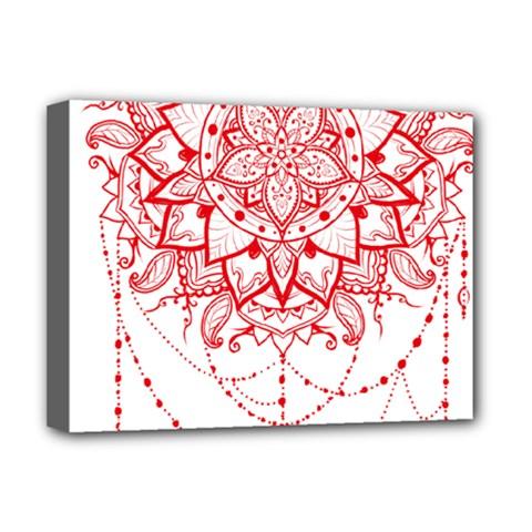 Mandala Pretty Design Pattern Deluxe Canvas 16  x 12