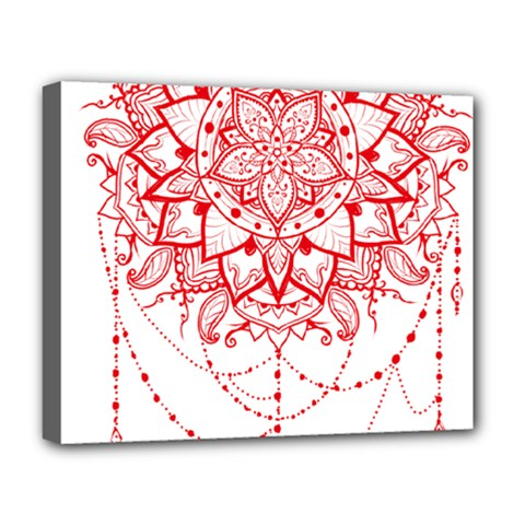 Mandala Pretty Design Pattern Deluxe Canvas 20  X 16