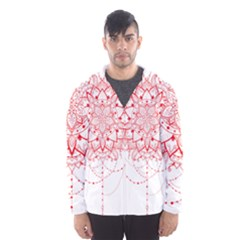 Mandala Pretty Design Pattern Hooded Wind Breaker (men)