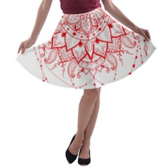 Mandala Pretty Design Pattern A Line Skater Skirt