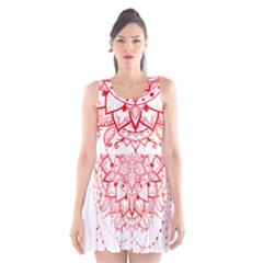 Mandala Pretty Design Pattern Scoop Neck Skater Dress