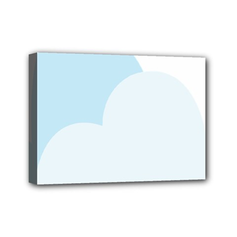 Cloud Sky Blue Decorative Symbol Mini Canvas 7  X 5