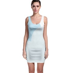Cloud Sky Blue Decorative Symbol Sleeveless Bodycon Dress