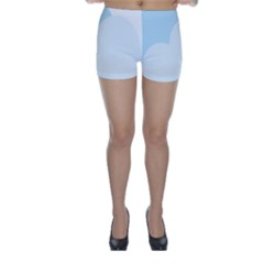 Cloud Sky Blue Decorative Symbol Skinny Shorts