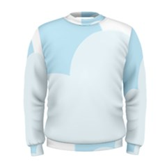 Cloud Sky Blue Decorative Symbol Men s Sweatshirt