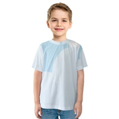 Cloud Sky Blue Decorative Symbol Kids  Sport Mesh Tee