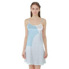 Cloud Sky Blue Decorative Symbol Satin Night Slip
