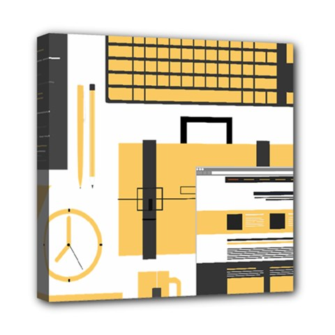 Web Design Mockup Web Developer Mini Canvas 8  X 8