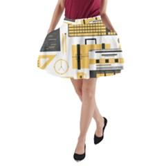 Web Design Mockup Web Developer A-Line Pocket Skirt
