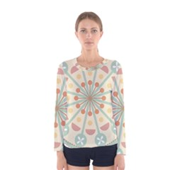 Blue Circle Ornaments Women s Long Sleeve Tee
