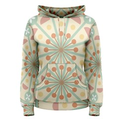 Blue Circle Ornaments Women s Pullover Hoodie