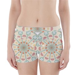 Blue Circle Ornaments Boyleg Bikini Wrap Bottoms