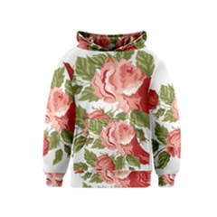 Flower Rose Pink Red Romantic Kids  Pullover Hoodie