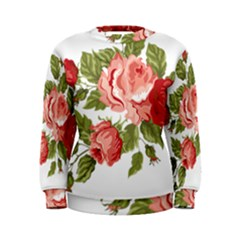 Flower Rose Pink Red Romantic Women s Sweatshirt