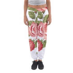 Flower Rose Pink Red Romantic Women s Jogger Sweatpants