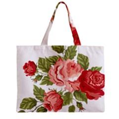 Flower Rose Pink Red Romantic Zipper Mini Tote Bag