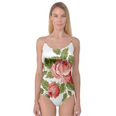 Flower Rose Pink Red Romantic Camisole Leotard