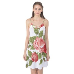 Flower Rose Pink Red Romantic Camis Nightgown