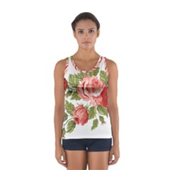 Flower Rose Pink Red Romantic Women s Sport Tank Top