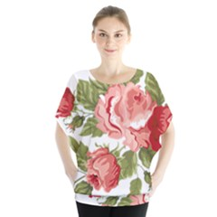 Flower Rose Pink Red Romantic Blouse