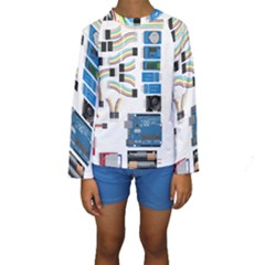 Arduino Arduino Uno Electronic Kids  Long Sleeve Swimwear