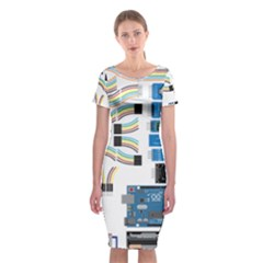 Arduino Arduino Uno Electronic Classic Short Sleeve Midi Dress