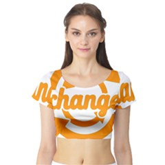 Think Switch Arrows Rethinking Short Sleeve Crop Top (tight Fit)
