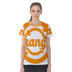 Think Switch Arrows Rethinking Women s Cotton Tee