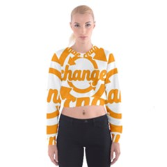 Think Switch Arrows Rethinking Cropped Sweatshirt