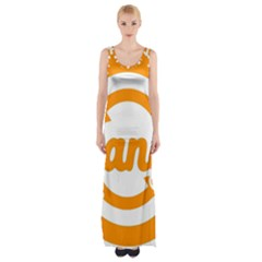 Think Switch Arrows Rethinking Maxi Thigh Split Dress