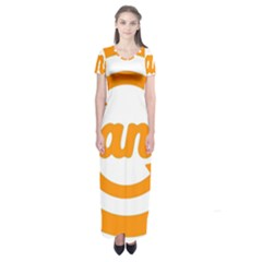 Think Switch Arrows Rethinking Short Sleeve Maxi Dress