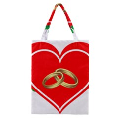Heart Flowers Ring Classic Tote Bag