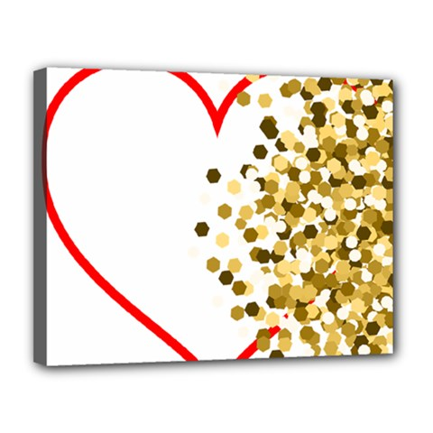 Heart Transparent Background Love Canvas 14  X 11