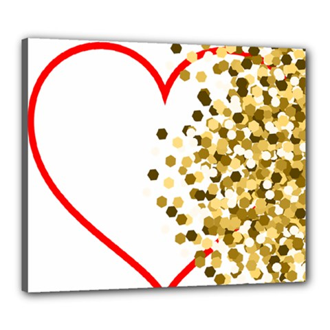 Heart Transparent Background Love Canvas 24  x 20