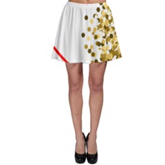 Heart Transparent Background Love Skater Skirt